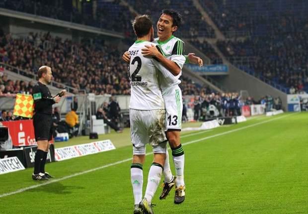 Wolfsburg vence Hoffenheim para sair da Zona de Rebaixamento