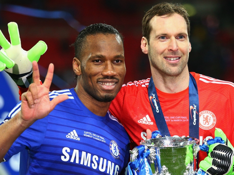 Didier Drogba pays tribute to his retiring 'hero' Petr Cech
