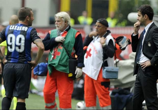 Inter: Cassano für zwei, Stramaccioni für ein Spiel gesperrt
