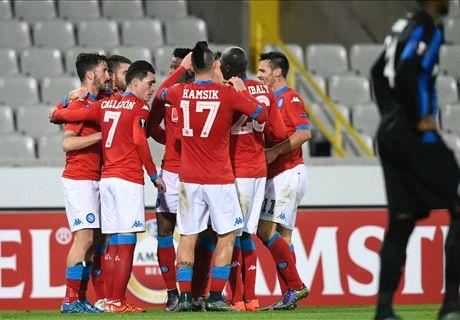 Napoli insaziabile: vince anche a Brugge