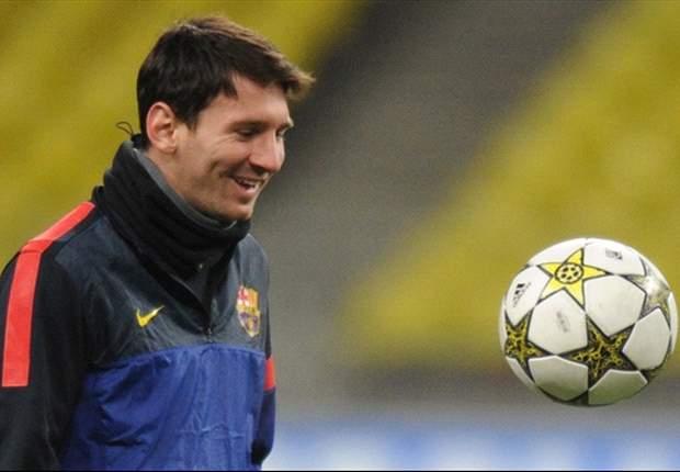 Messi es suplente, sin prisas ante el récord