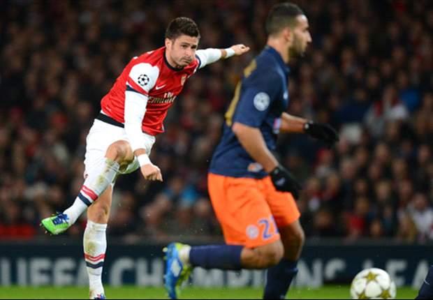 LdC, Arsenal - Giroud s'en contente