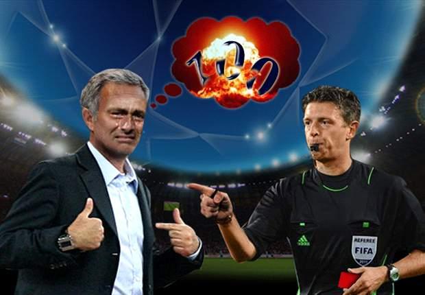 José Mourinho y un enemigo invencible: Gianluca Rocchi
