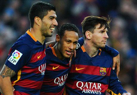 RATINGS: Messi, Suarez & Neymar strike