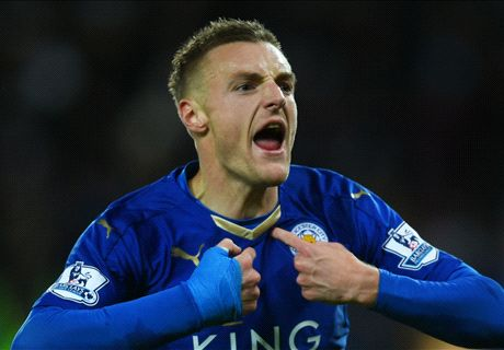 Vardy breaks record to hold United