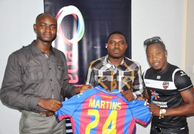 Winner claims signed Obafemi Martins' Levante jersey