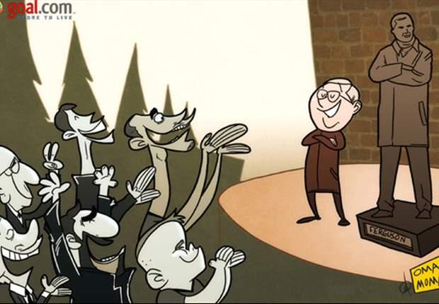 Tira Cómica: Sir Alex Ferguson, inmortalizado ante pasadas y presentes leyendas del Manchester United