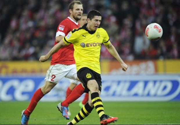 Mainz 1-2 Borussia Dortmund: Lewandowski completes Coface comeback