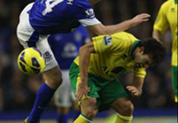 Everton 1-1 Norwich: Bassong strikes at the death to deny Toffees