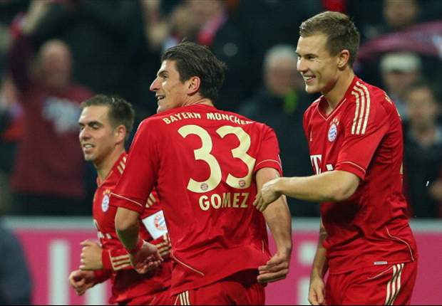 Gomez 'elated' to score in Bayern's 5-0 rout of Hannover