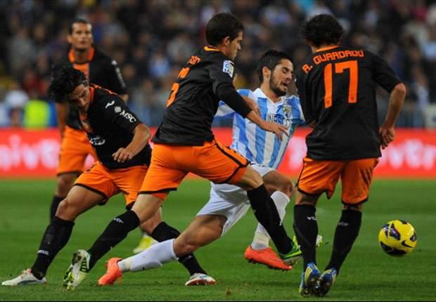 Isco: El Málaga estuvo espectacular en la victoria frente al Valencia