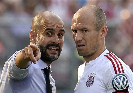 Robben pleads with Pep to stay at Bayern