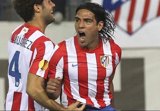 Técnico do Atlético Madrid, diz que espera melhora de Falcao frente ao Barcelona