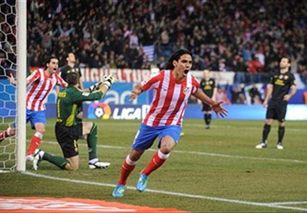 Chelsea target Falcao thanks Atletico president