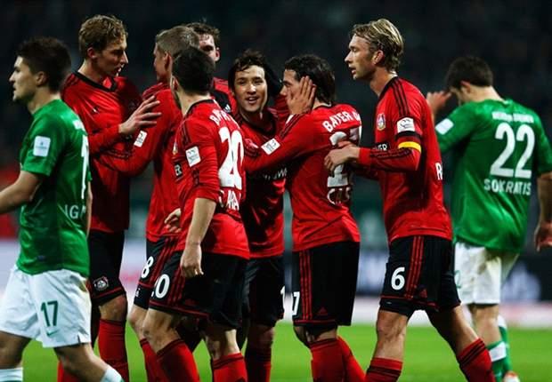 Bayer Leverkusen springt durch deutlichen Sieg bei Werder Bremen auf Platz 2