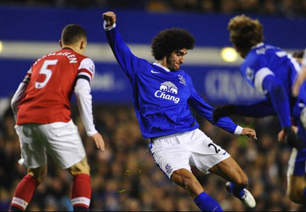 Everton 1-1 Arsenal: Fellaini cancels out early Walcott opener