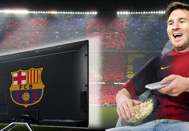 Lionel Messi disfrutó de la goleada del Barcelona comiendo pochoclo