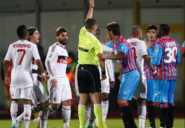 """Gasparin tuona dopo l'ennesimo torto contro il Catania: """"Sembra sia la regola, con le big la sudditanza è evidente"""""""