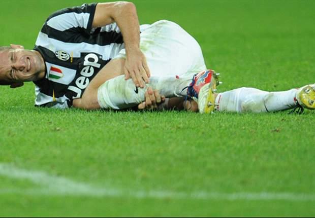 La defensa de la Juventus, en crisis tras la lesión de Chiellini