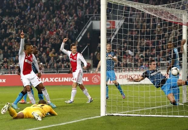 Dominant Ajax terug in de titelstrijd