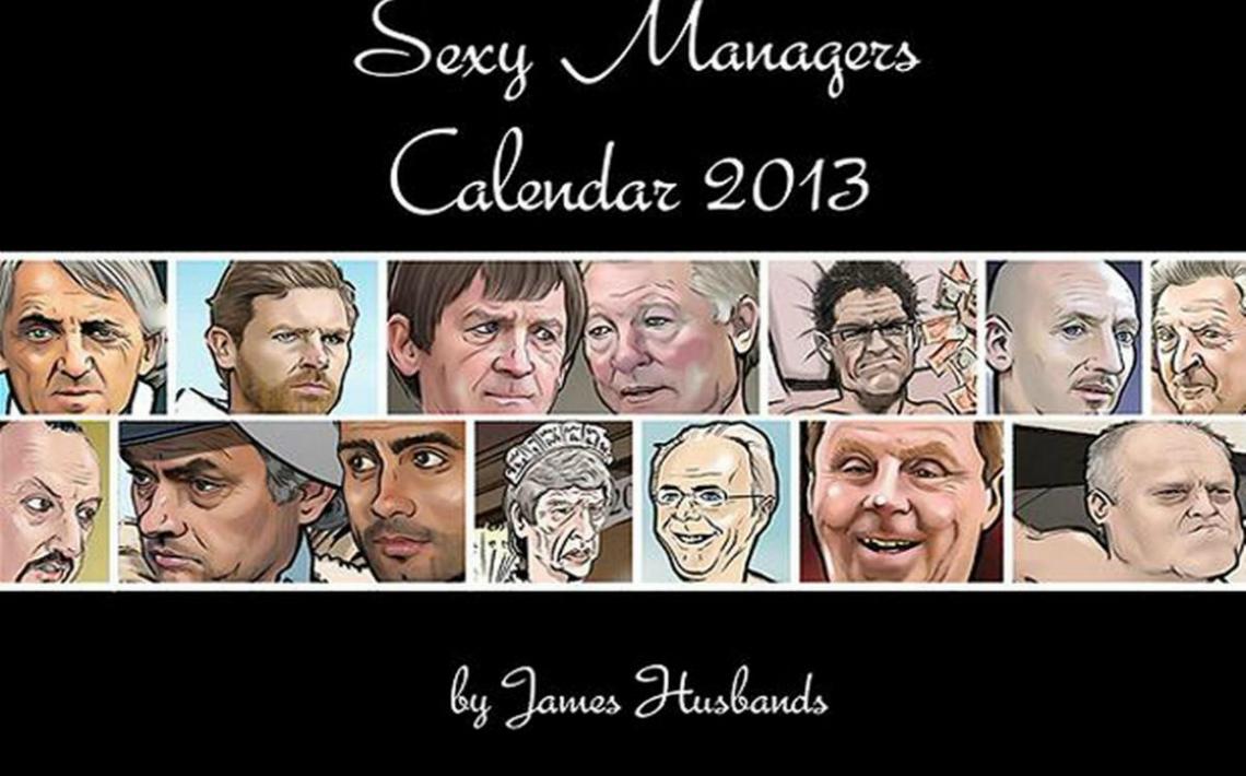 Calendario 2013 de entrenadores caricaturizados