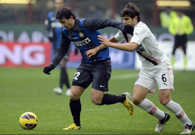 Zwak Inter mazzelt tegen Palermo