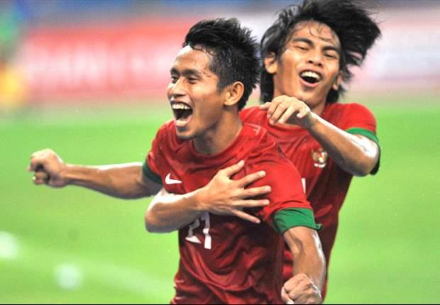 Andik Vermansah saat tampil di Piala AFF tahun lalu.