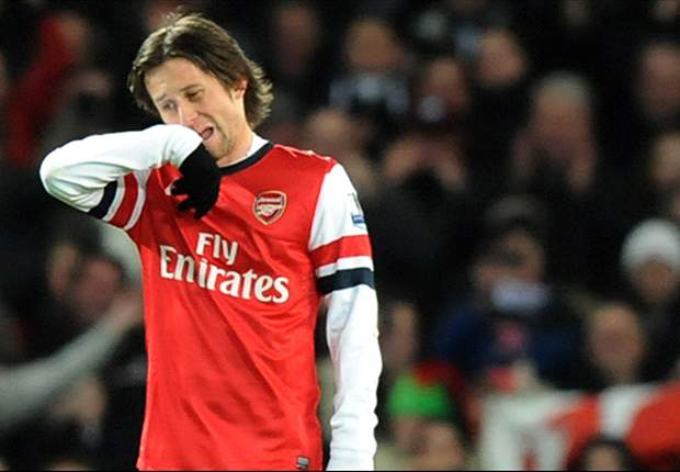 TEAM NEWS: Rosicky & Meade handed starts for Arsenal against Olympiakos
