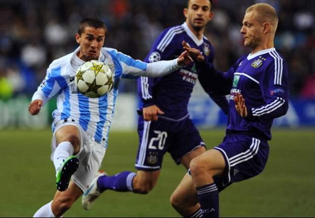 Málaga prikt Anderlecht-droom kapot