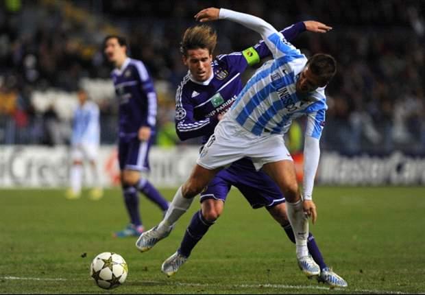 Ditahan Anderlecht, Malaga Tetap Juara Grup C
