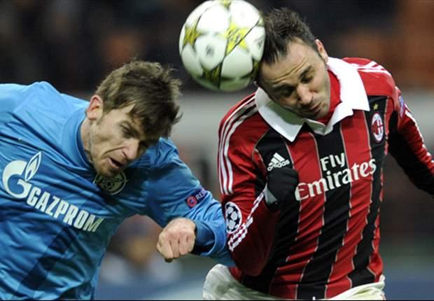 Milan pierde ante el Zenit: Danny da el pase a la Europa League