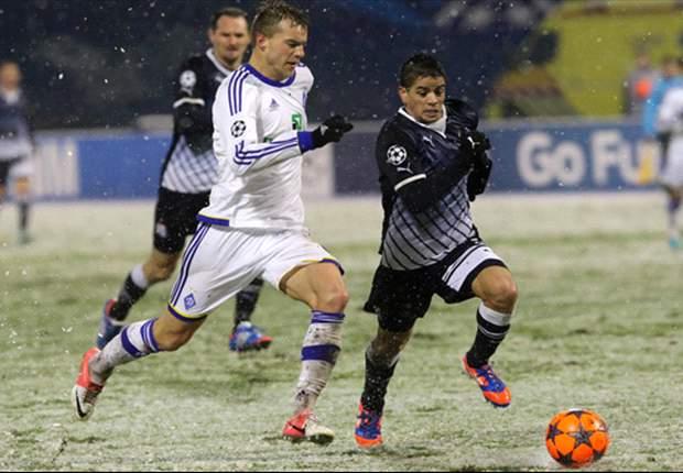 Dinamo Zagreb 1-1 Dynamo Kiev: Krystanovic cancels out Yarmolenko cracker