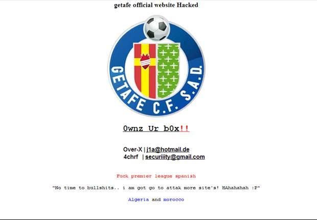 Hackean la web del Getafe
