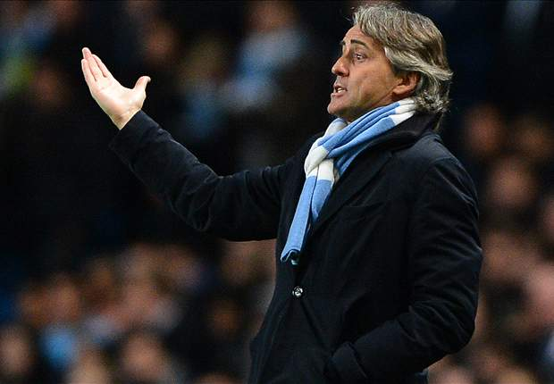 'Seven points are no problem' - Mancini insists Manchester City can catch rival United