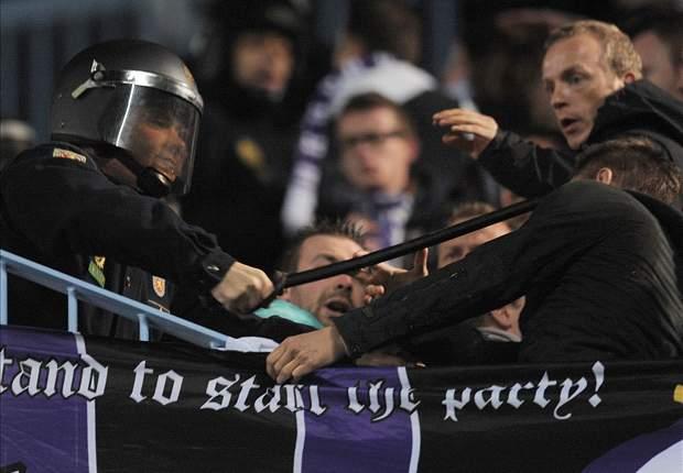 Belgische fans slaags met Spaanse politie