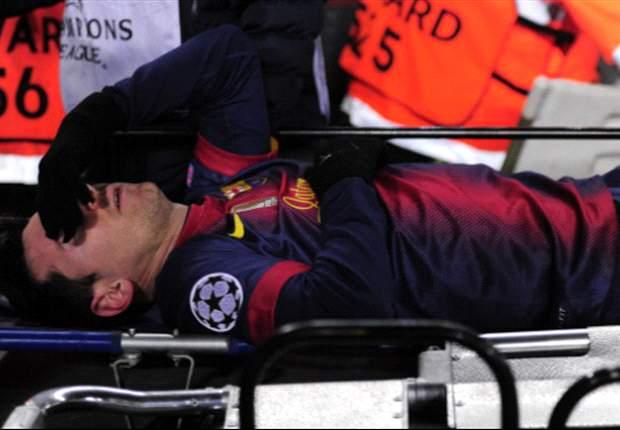 Lionel Messi, el primer diagnóstico: sólo una contusión en la rodilla
