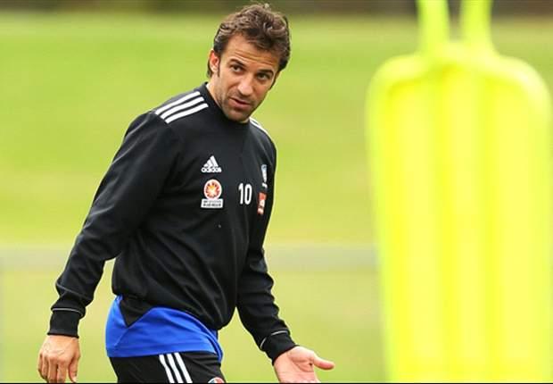Del Piero to miss Sydney FC's trip to Wellington through injury