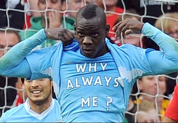 TEAM NEWS: Balotelli starts for Manchester City against United