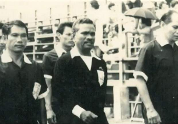 Singapore's George Suppiah was the first Asian official at the World Cup in 1974