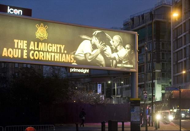Nike coloca outdoor do Corinthians em Londres e provoca o Chelsea