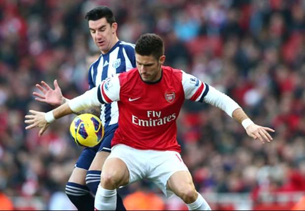 Laporan Pertandingan: Arsenal 2-0 West Brom