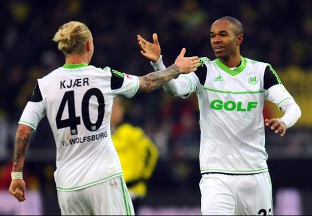 Borussia Dortmund 2-3 Wolfsburg: Schmelzer off as defending champions lose more ground on Bayern