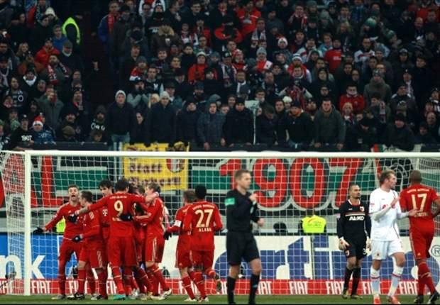 Augsburgo - Bayern Múnich: Victoria a medio gas del conjunto de Heycknes