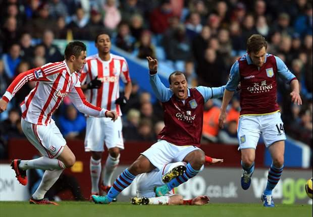 Swansea onderuit, Villa niet langs Stoke