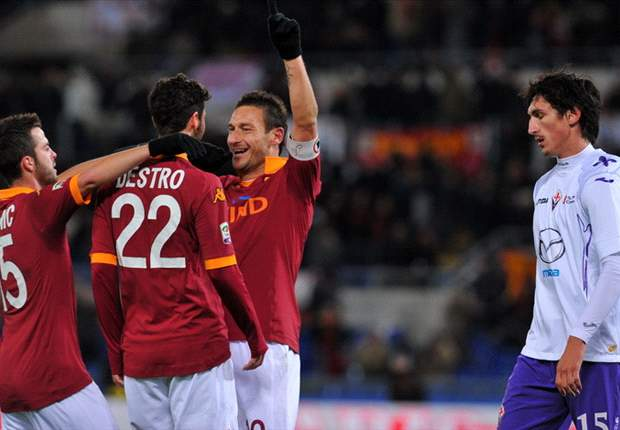 Francesco Totti Antar AS Roma Hantam Fiorentina
