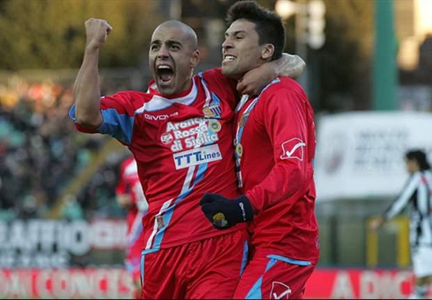 Gonzalo Bergessio y Lucas Castro encabezan la remontada del Catania sobre el Siena