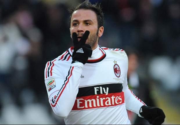 Il Milan tira un sospiro di sollievo: niente di grave per Pazzini, l'attaccante punta la Champions