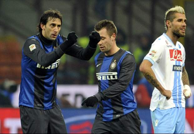 Inter 2-1 Napoli: Guarin and Milito send Nerazzurri second in Serie A