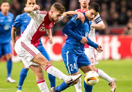 Ajax verlaat Europa League met remise