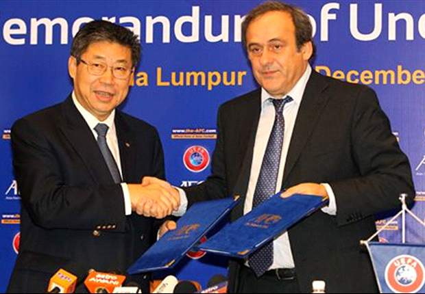 AFC and UEFA sign Memorendum of Understanding to develop Asian football